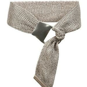 Suzi Roher Silver Mesh Double Ring Belt